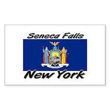Seneca Falls New York Rectangle Decal