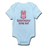 Some Bunny Loves Me Infant Bodysuit (Pink)