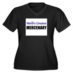 Worlds Greatest MERCENARY Women's Plus Size V-Neck