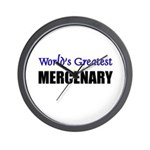 Worlds Greatest MERCENARY Wall Clock