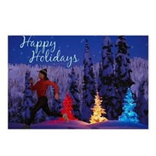 Runner's Holiday Scene (Female Runner) Postcards (