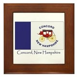 Concord NH Flag Framed Tile