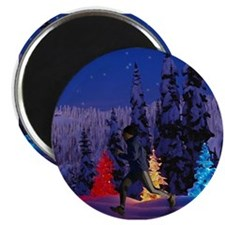 Silent Night - Christmas Scen Magnet