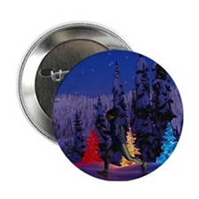 Silent Night - Christmas Scen Button