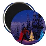 Runner's Holiday Scene (Female Runner) Magnet