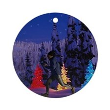 Runner's Holiday Scene (Male Runner) Ornament (Rou