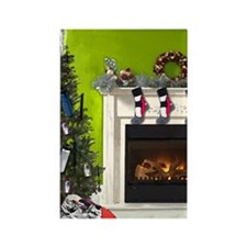 Runner's Christmas Tree Rectangle Magnet