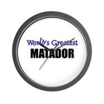 Worlds Greatest MATADOR Wall Clock