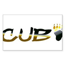 BEAR PRIDE CUB AND PAW Rectangle Decal