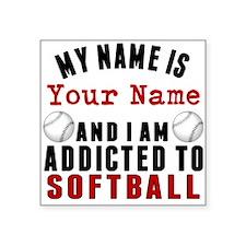 Addicted To Softball Sticker