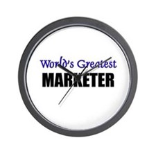 Worlds Greatest MARKETER Wall Clock