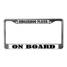 Didgeridoo Player License Plate Frame