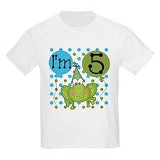 Frog 5th Birthday T-Shirt