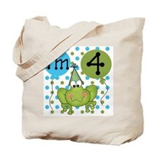 Frog 4th Birthday Tote Bag