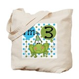 Frog 3rd Birthday Tote Bag