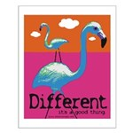 Different Flamingo Small Poster