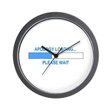 APOLOGY LOADING... Wall Clock