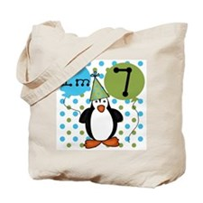 Penguin 7th Birthday Tote Bag