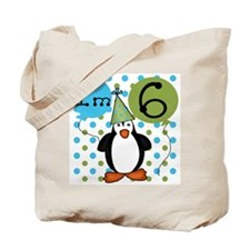 Penguin 6th Birthday Tote Bag