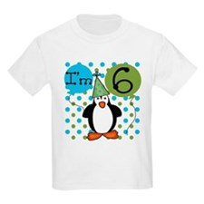 Penguin 6th Birthday T-Shirt