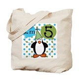 Penguin 5th Birthday Tote Bag