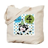 Cow 4th Birthday Tote Bag