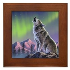 Howling Wolf 2 Framed Tile