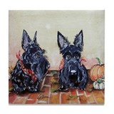Autumn Scotties Tile Coaster
