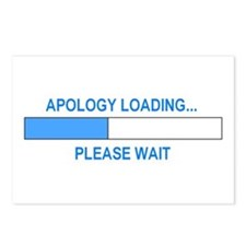 APOLOGY LOADING... Postcards (Package of 8)
