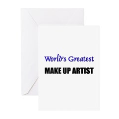 Worlds Greatest MAKE UP ARTIST Greeting Cards (Pk