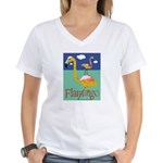 Flamingo Women's V-Neck T-Shirt