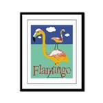 Flamingo Framed Panel Print