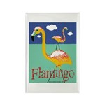 Flamingo Rectangle Magnet (100 pack)