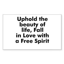 Uphold the beauty of life, Fa Sticker (Rectangular