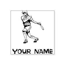 Softball Player Sticker