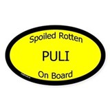 Spoiled Puli On Board Oval Decal