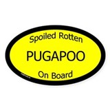 Spoiled Pugapoo On Board Oval Decal