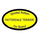 Spoiled Patterdale Terrier On Board Oval Decal