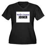 Worlds Greatest JOINER Women's Plus Size V-Neck Da