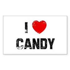I * Candy Rectangle Decal