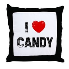 I * Candy Throw Pillow