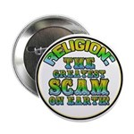 "Religion / Scam 2.25"" Button (10 pack)"