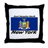 East Hampton North New York Throw Pillow