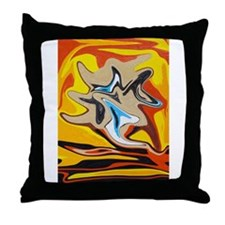 Liquified God In Hell Throw Pillow