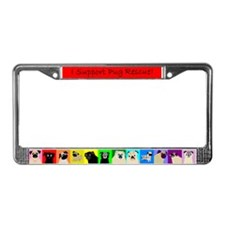 Pug Stripe License Plate Frame