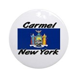 Carmel New York Ornament (Round)