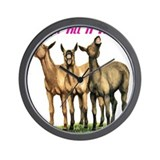 Mules, laugh till it hurts Wall Clock