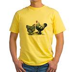 Dark Brahma Chickens Yellow T-Shirt