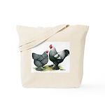 Dark Brahma Chickens Tote Bag