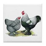 Dark Brahma Chickens Tile Coaster